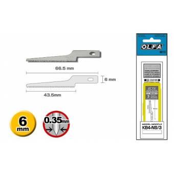OL KB4-NS/3 Набор лезвий (пилочка узкая) из высокоуглеродистой стали к ножу OL AK-4 3 шт, Olfa