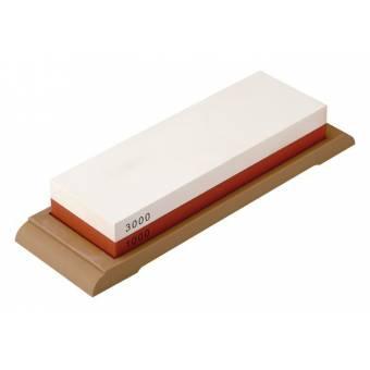 Набор точильный камень 18*6*2,7 см 1000/3000 в комплекте с держателем угла заточки (YA 37060)