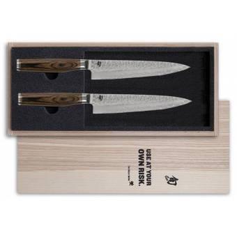 "Набор из 2-х ножей для стейка в подарочной коробке, KAI ""SHUN Premier Tim Mälzer"" (TDMS-400)"